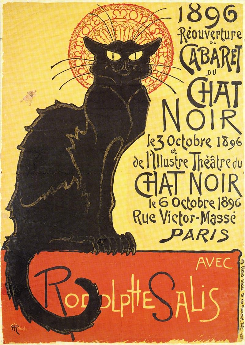 плакат  Т.А. Стейнлена  Чёрный кот