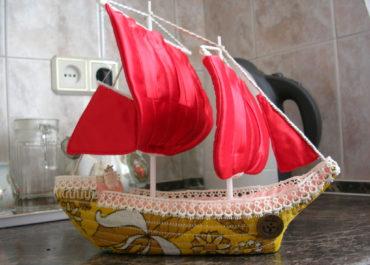 Объемная подставка для фото Алые паруса