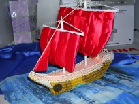 Объёмная подставка для фото Алые паруса