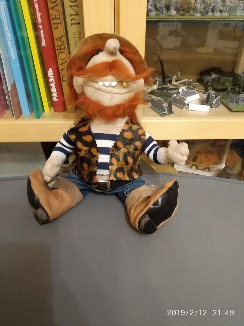 Авторская кукла Бармалей