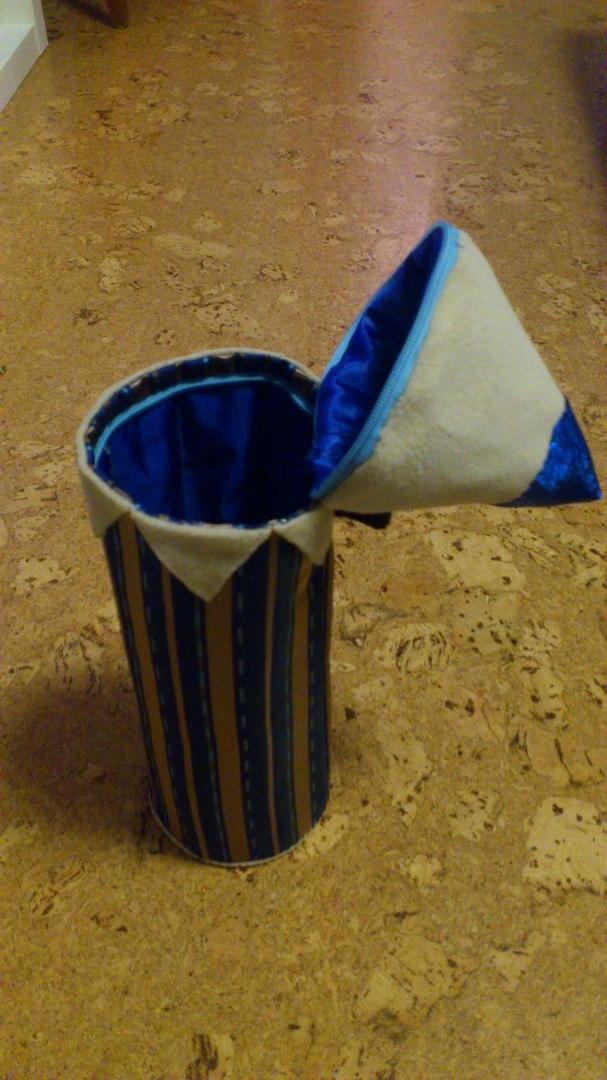 Текстильная подарочная упаковка Карандаш