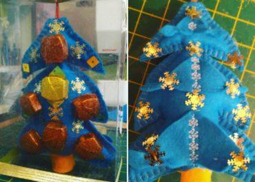 Фетровая елочка с конфетами