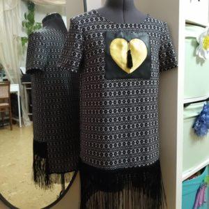 Модный тюнинг готовой туники