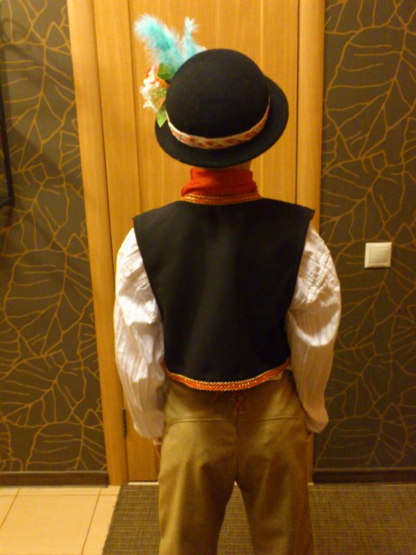 Национальный чешский костюм для выступления