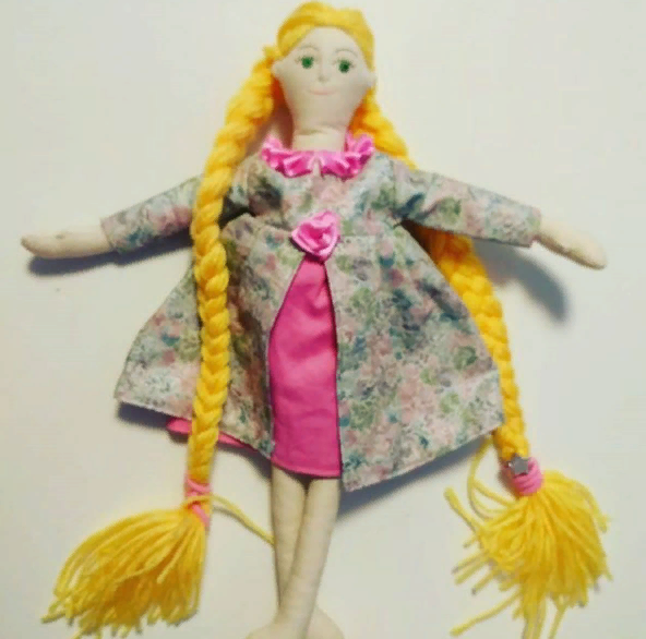 Текстильная кукла Рапунцель
