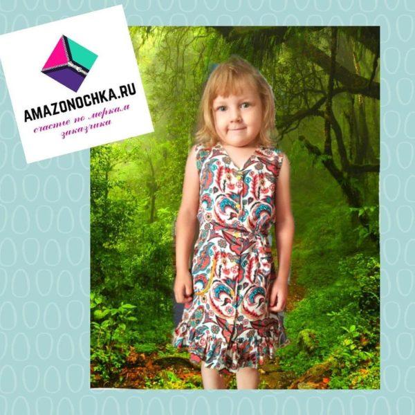 Детское платье из нежного штапеля