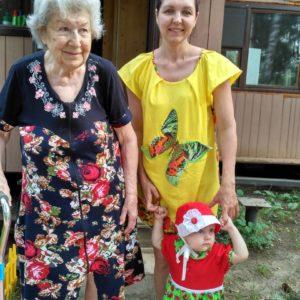 Платье детское Клубничка и женская майка