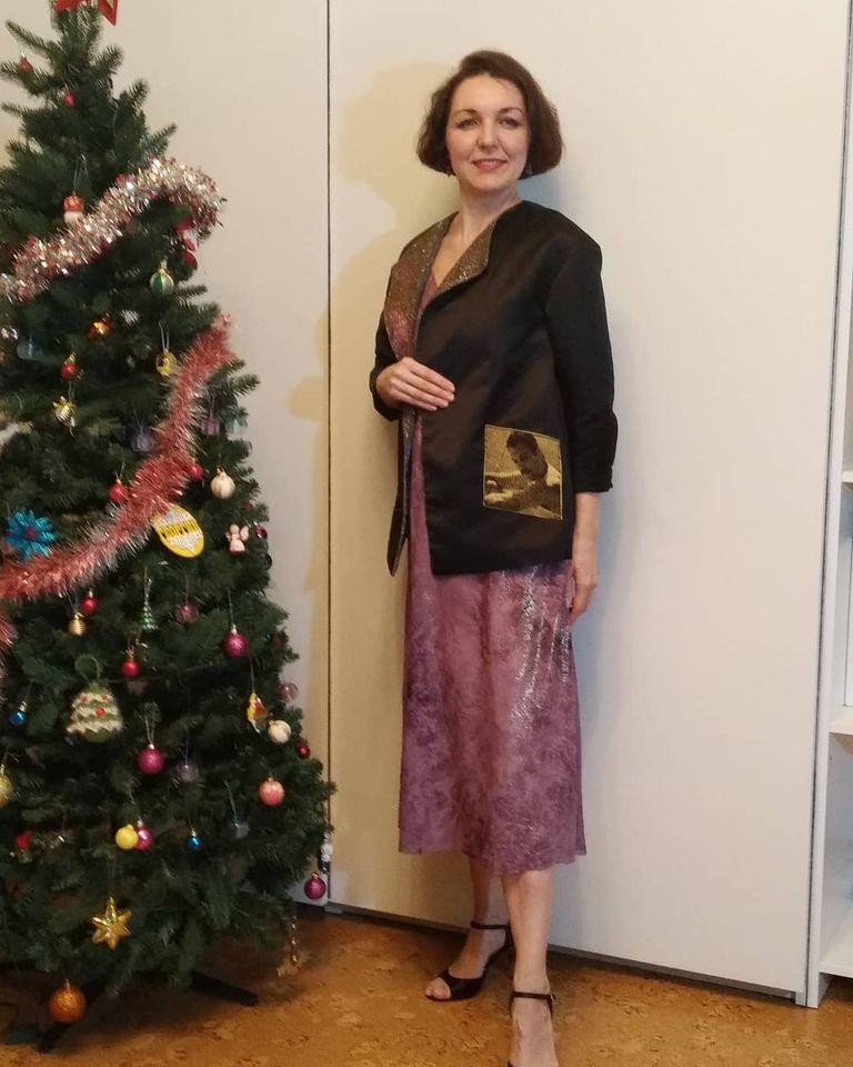 Новогоднее платье с жакетом