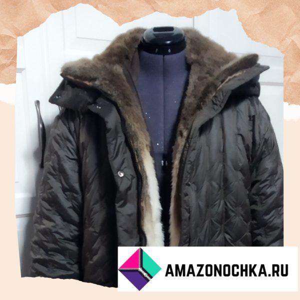 Пальто с подстёжкой из натурального меха