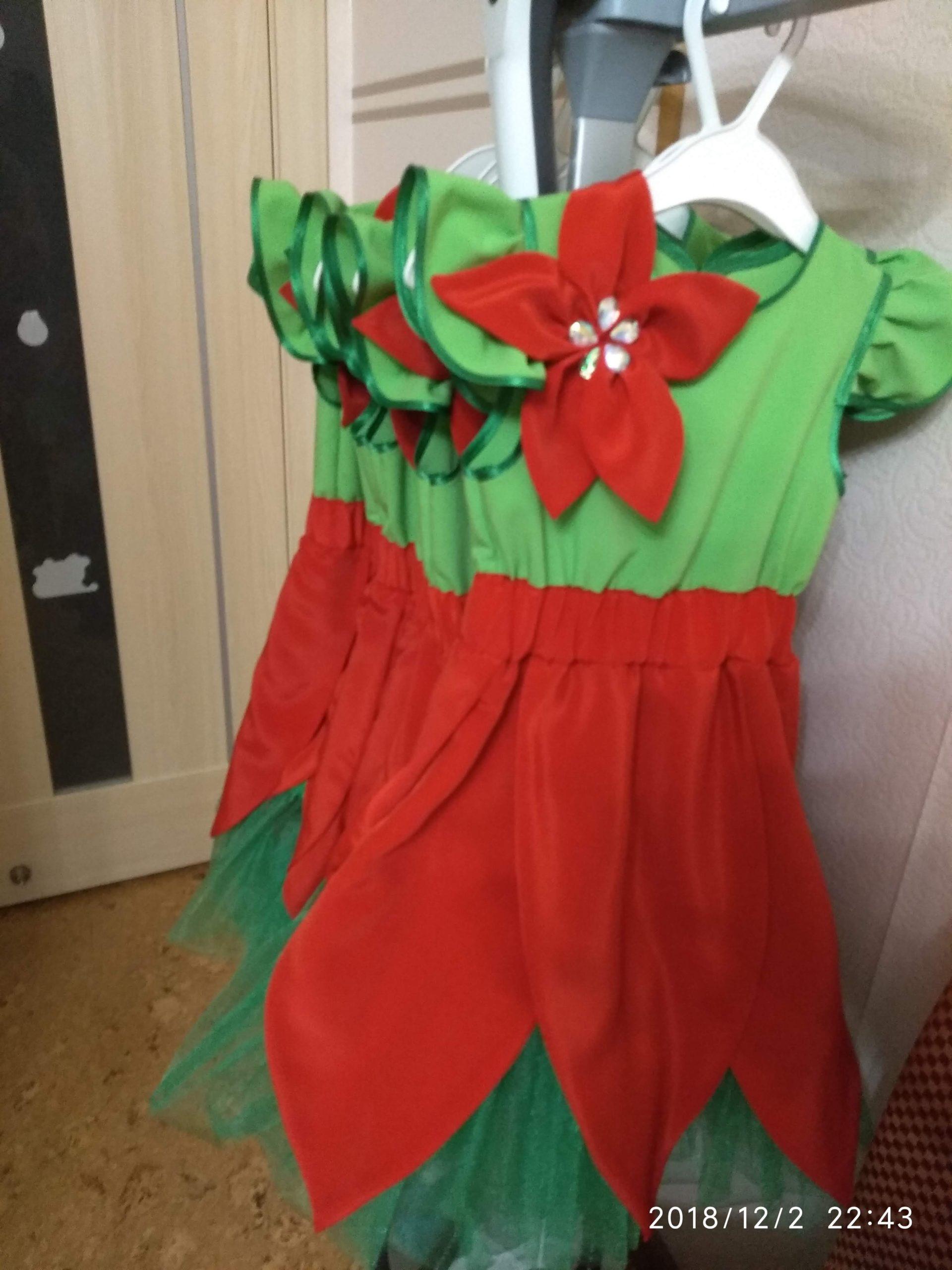 Конкурсные костюмы для коллектива Аленький цветочек