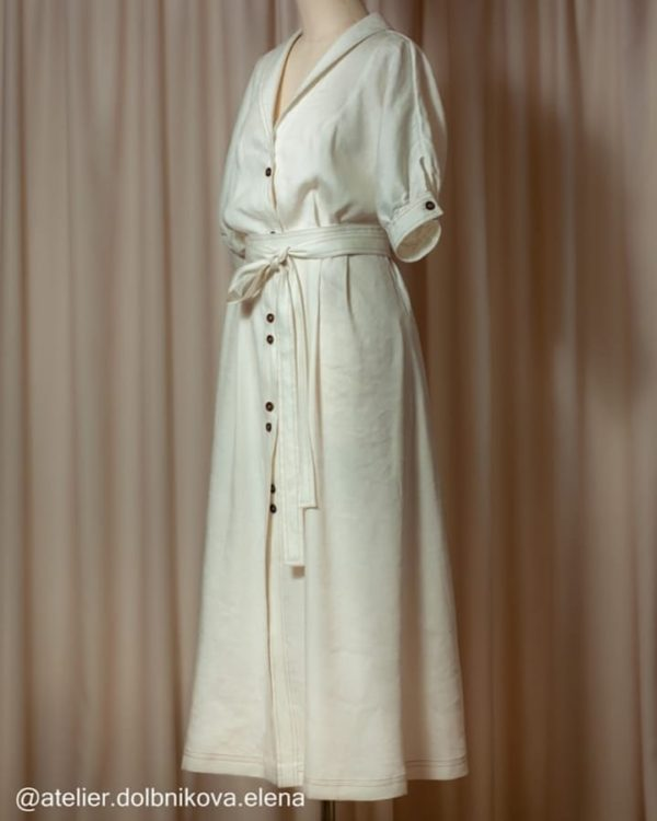 Летнее льняное платье - индивидуальный пошив на заказ