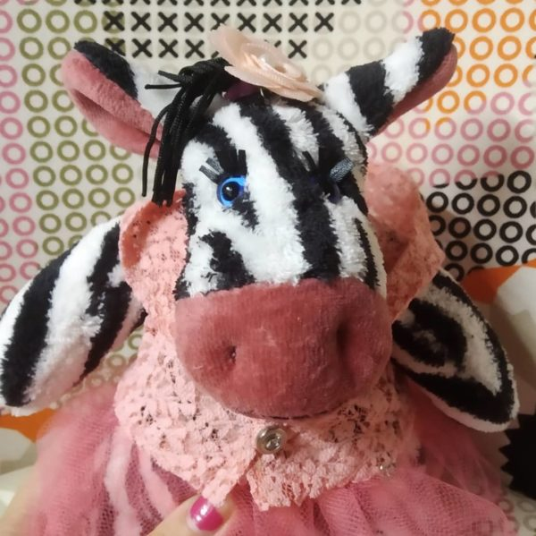 Мягкая игрушка зебра Зина